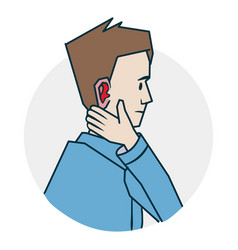 problems with ears vector image