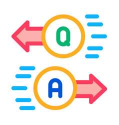Question answer icon outline vector