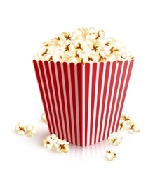 Realistic Popcorn Bucket vector