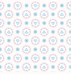 retro floral pastel daisy pattern seamless vector image