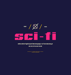 Sans serif font in sci-fi style vector