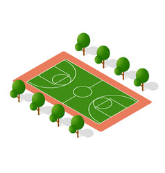 school playground for games for schoolchildren vector image