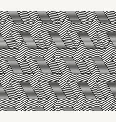 seamless hexagon rattan pattern art vector image