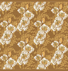 seamless pattern vintage grunge decorative vector image