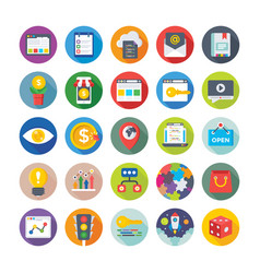 Seo and digital marketing icons 8 vector