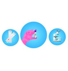 Set rapid coronavirus test blood sample and vector