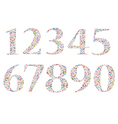 Set Social network number background with media ic vector image