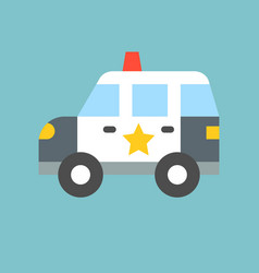 simple patrol car vector image