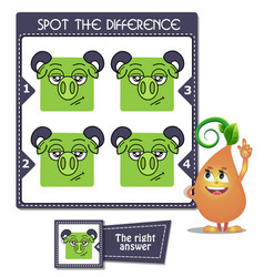 Spot the difference apricorn vector