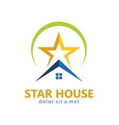 Star house realty logo vector