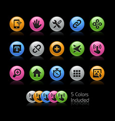 system icons interface - gelcolor series vector image