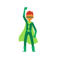 teenage boy a member super heroes family in vector image