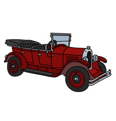 The vintage red cabriolet vector
