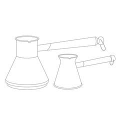 two long-handled coffeemakers vector image
