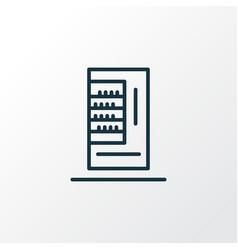 Vending machine icon line symbol premium quality vector