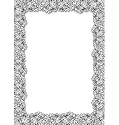 vertical decorative frame with oak leaves and vector image