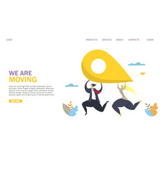 we are moving website landing page design vector image