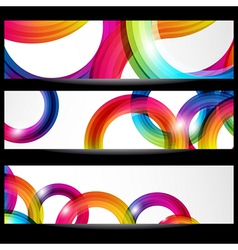 Abstract banner with forms vector image