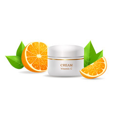 cream with vitamin c in glossy tube vector image