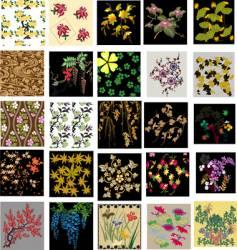 flower pattern design vector image