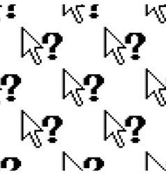 Seamless pattern of arrows and question marks vector image