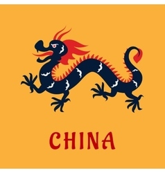 Traditional chinese dragon in flat style vector image vector image