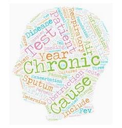chronic bronchitis text background wordcloud vector image