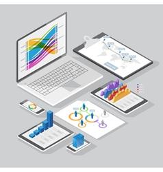 isometric infographics design elements vector image vector image