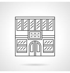 Library facade flat line icon vector image vector image