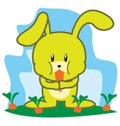 Rabbit Eating vector image