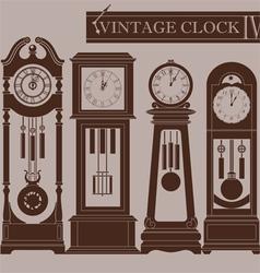 Vintage clock IV vector image