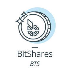 bitshares cryptocurrency coin line icon of vector image vector image
