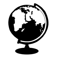 Hiqh quality globe pictogram icon for web design vector image vector image
