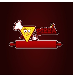 Hunk of pizza vector image vector image