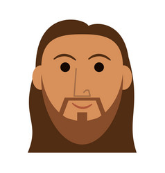 jesus face cartoon vector image
