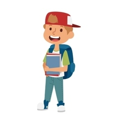 School kid primary education character vector image vector image