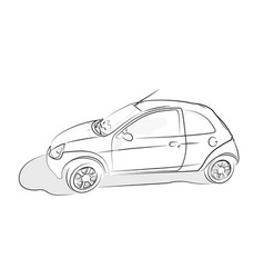 sketch of car on white background vector image