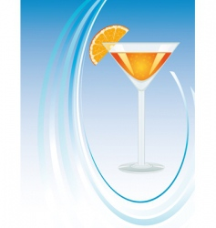 a glass of orange juice vector image