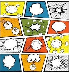 Comic Speech Bubbles Set vector image vector image