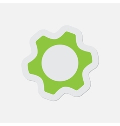 simple green icon - cogwheel vector image vector image
