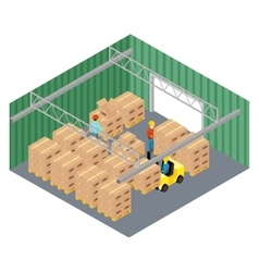 Warehouse interior vector image