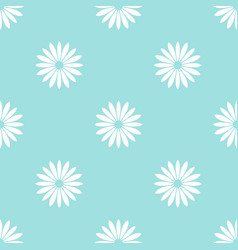 white flowers on blue background seamless pattern vector image vector image