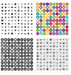100 yoga studio icons set variant vector
