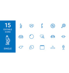 15 single icons vector image