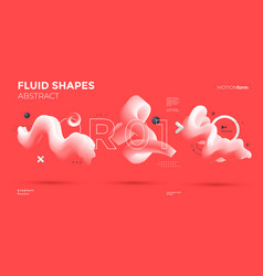 3d wave shapes on red background isolated vector