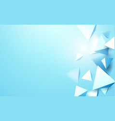 abstract blue 3d triangles background vector image