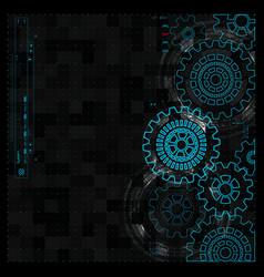 abstract gear wheel mechanism background vector image