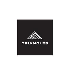 adventure triangle mountain apparel logo design vector image