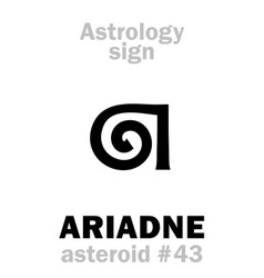 Astrology asteroid ariadne vector