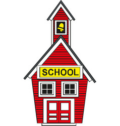 building high school education children vector image